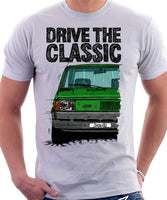 Drive The Classic Fiat Panda Early Model. T-shirt in White Colour