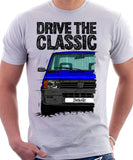 Drive The Classic Fiat Panda Latest Model. T-shirt in White Colour