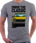 Drive The Classic Lada Niva Late Model. T-shirt in Heather Grey Color