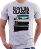 Drive The Classic Lada Niva Late Model. T-shirt in White Color