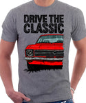 Drive The Classic Opel Ascona A. T-shirt in Heather Grey Colour