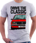 Drive The Classic Opel Ascona B Early Model. T-shirt in White Colour