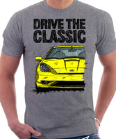 Drive The Classic Toyota Celica 7 Generation Facelift Model. T-shirt in Heather Grey Colour