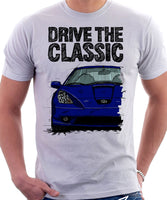 Drive The Classic Toyota Celica 7 Generation Prefacelift Model. T-shirt in White Colour