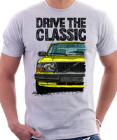 Drive The Classic Volvo 240 80s Model. T-shirt in White Colour