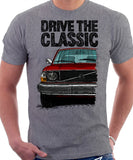 Drive The Classic Volvo 240 Early 70s Model. T-shirt in Heather Grey Colour