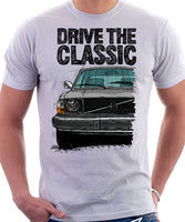 Drive The Classic Volvo 240 Early 70s Model. T-shirt in White Colour