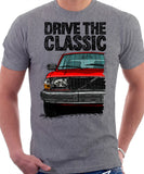 Drive The Classic Volvo 240 Early 80s Model. T-shirt in Heather Grey Colour