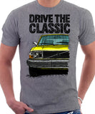 Drive The Classic Volvo 240 Late 70s Model. T-shirt in Heather Grey Colour