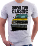 Drive The Classic Volvo 240 Late 70s Model. T-shirt in White Colour
