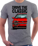 Drive The Classic VW Golf Mk3 Colour Grille. T-shirt in Heather Grey Color.