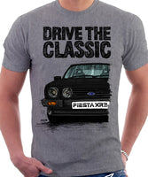 Drive The Classic Ford Fiesta Mk1 XR2. T-shirt in Heather Grey Colour