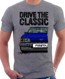 Drive The Classic Ford Fiesta Mk2 Ghia. T-shirt in Heather Grey Colour