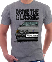 Drive The Classic Ford Fiesta Mk2 XR2 Spotlights . T-shirt in Heather Grey Colour