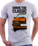 Drive The Classic Ford Capri Mk3 Colour Grille T-shirt in White Colour