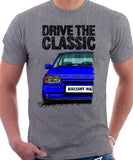 Drive The Classic Ford Escort Mk4 RS Turbo (Bumper Version 2). T-shirt in Heather Grey Colour