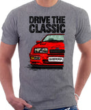 Drive The Classic Ford Sierra MK1 RS. T-shirt in Heather Grey Colour