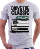Drive The Classic Mazda RX7 Mk2 Turbo Early Model. T-shirt in White Colour