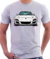 Mazda RX7 FD Late Model. T-shirt in White Color