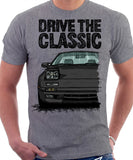 Drive The Classic Mazda RX7 Mk2 Late Model. T-shirt in Heather Grey Colour