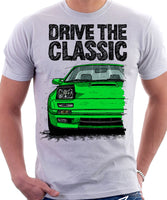 Drive The Classic Mazda RX7 Mk2 Turbo Late Model. T-shirt in White Colour
