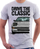 Drive The Classic Mazda RX7 Mk1  Late Model. T-shirt in White Colour