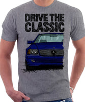 Drive The Classic Mercedes R129. T-shirt in Heather Grey Colour