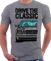 Drive The Classic Mercedes W126 Facelift T-shirt in Heather Grey Colour
