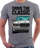 Drive The Classic Mercedes W126 Facelift Grey Bumpers T-shirt in Heather Grey Colour