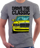 Drive The Classic Mercedes W126 Prefacelift  T-shirt in Heather Grey Colour