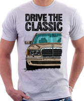 Drive The Classic Mercedes W126  Prefacelift T-shirt in White Colour