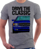 Drive The Classic Mercedes W126 SEC Facelift T-shirt in Heather Grey Colour