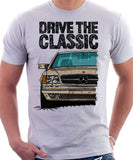 Drive The Classic Mercedes W126 SEC Facelift T-shirt in White Colour