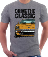 Drive The Classic Datsun 280ZX Series 1. T-shirt in Heather Grey Colour