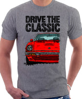 Drive The Classic Datsun 280ZX Series 2. T-shirt in Heather Grey Colour