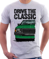 Drive The Classic Opel Corsa A Early Model. T-shirt in White Colour