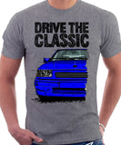 Drive The Classic Opel Corsa A GSI. T-shirt in Heather Grey Colour