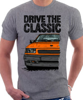 Drive The Classic Opel Corsa A Late Model. T-shirt in Heather Grey Colour