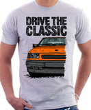 Drive The Classic Opel Corsa A Late Model. T-shirt in White Colour