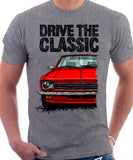 Drive The Classic Opel Kadett C Early Model. T-shirt in Heather Grey Colour