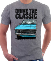 Drive The Classic Opel Manta A. T-shirt in Heather Grey Colour