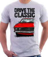 Drive The Classic Opel Manta A. T-shirt in White Colour