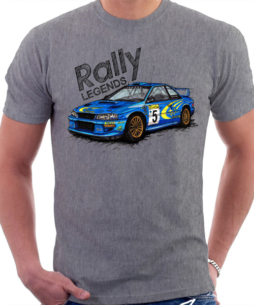 Subaru Impreza WRX Rally Legends. T-shirt.