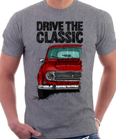 Drive The Classic Renault 4 1967 Model. T-shirt in Heather Grey Colour