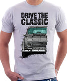 Drive The Classic Renault 4 1967 Model. T-shirt in White Colour