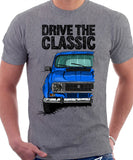 Drive The Classic Renault 4 1978 Model. T-shirt in Heather Grey Colour