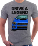 Drive The Legend Subaru Impreza Bugeye WRX. T-shirt in Heather Grey Colour