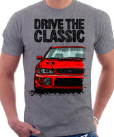 Drive The Classic Subaru Impreza WRX 1st Gen. T-shirt in Heather Grey Colour