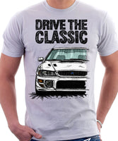 Drive The Classic Subaru Impreza WRX 1st Gen. T-shirt in White Colour