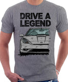 Drive A Legend Toyota Celica 7 Generation Facelift Model. T-shirt in Heather Grey Colour